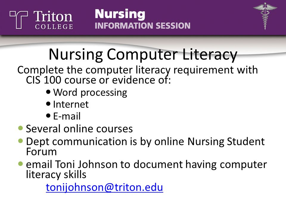 Nursing Computer Literacy