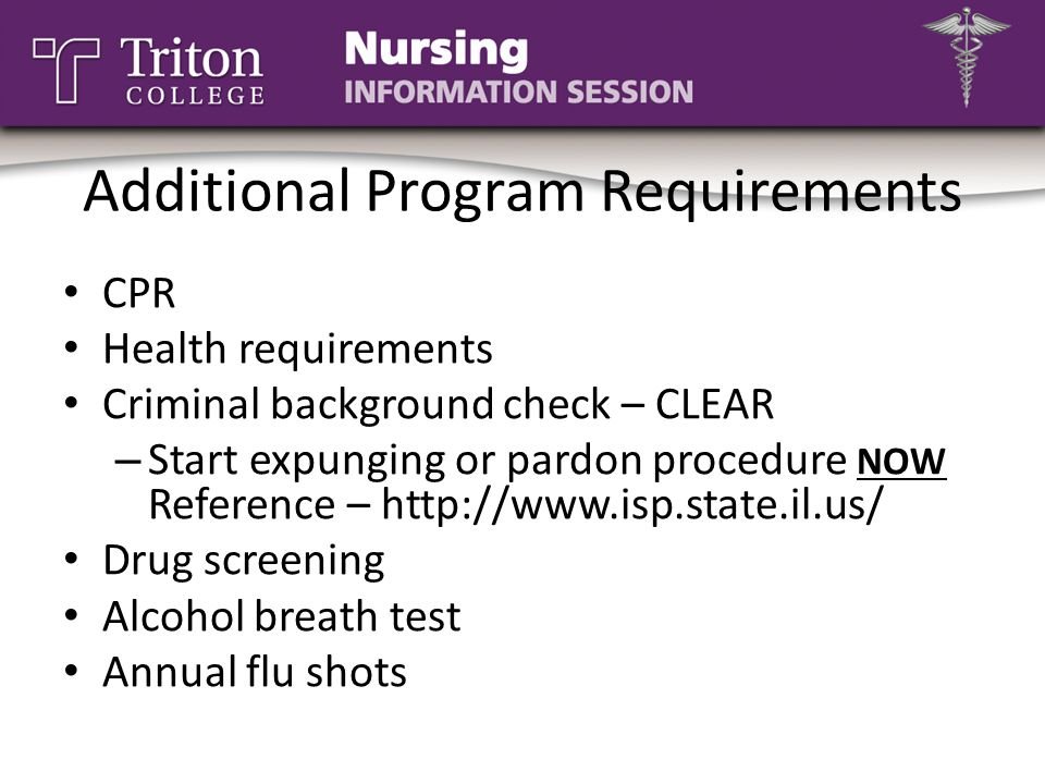 Additional Program Requirements