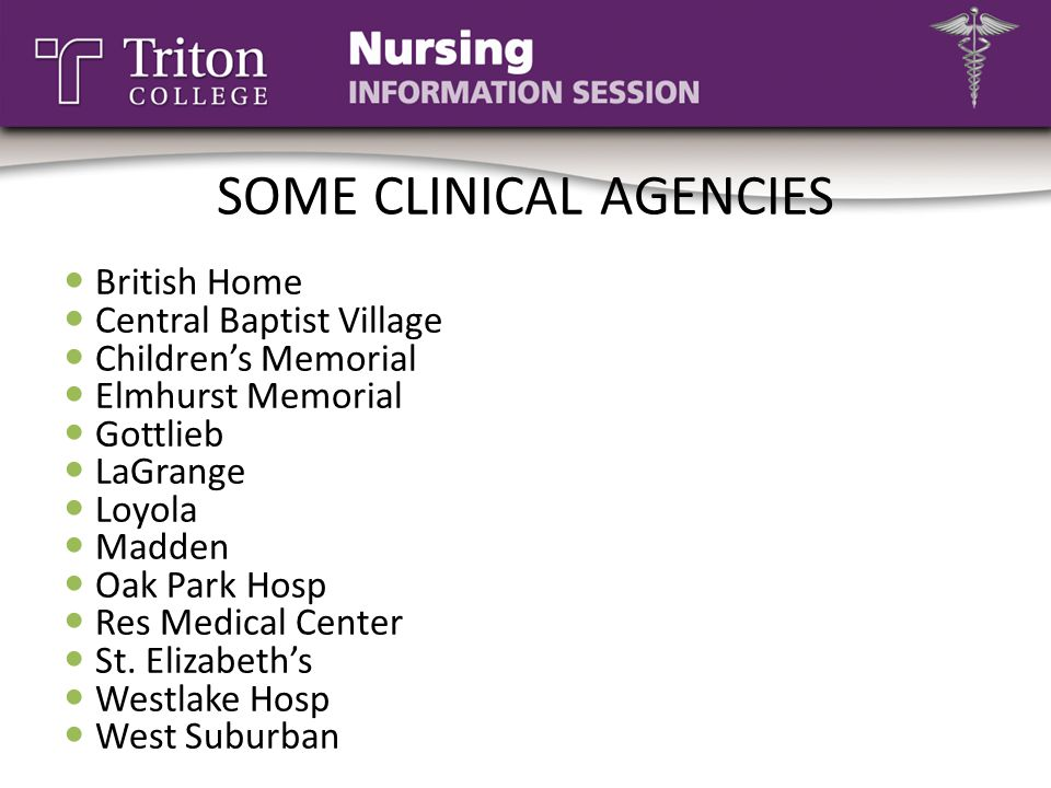 SOME CLINICAL AGENCIES