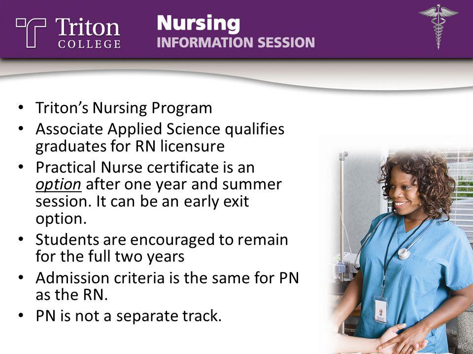 Triton's Nursing Program