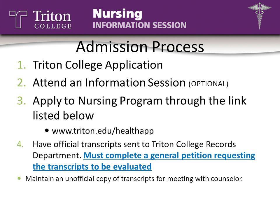 Admission Process Triton College Application