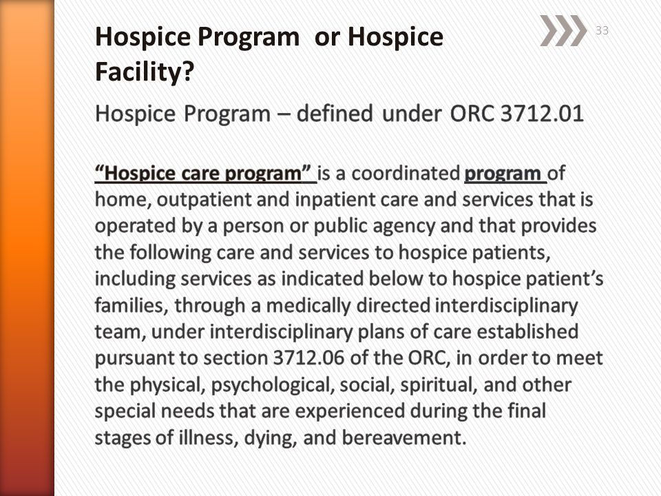 Hospice Program or Hospice Facility