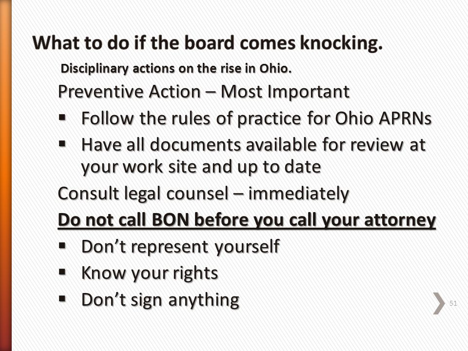 What to do if the board comes knocking.