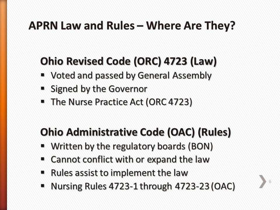 APRN Law and Rules – Where Are They