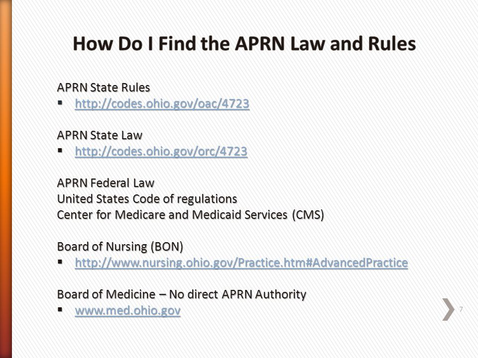 How Do I Find the APRN Law and Rules