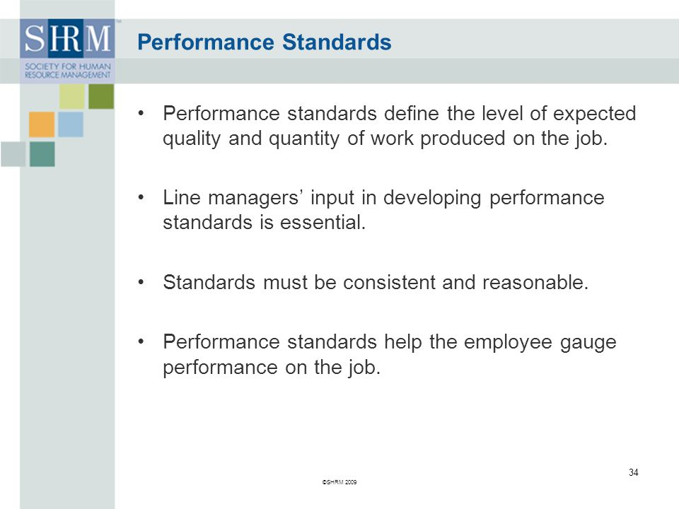 Performance Standards