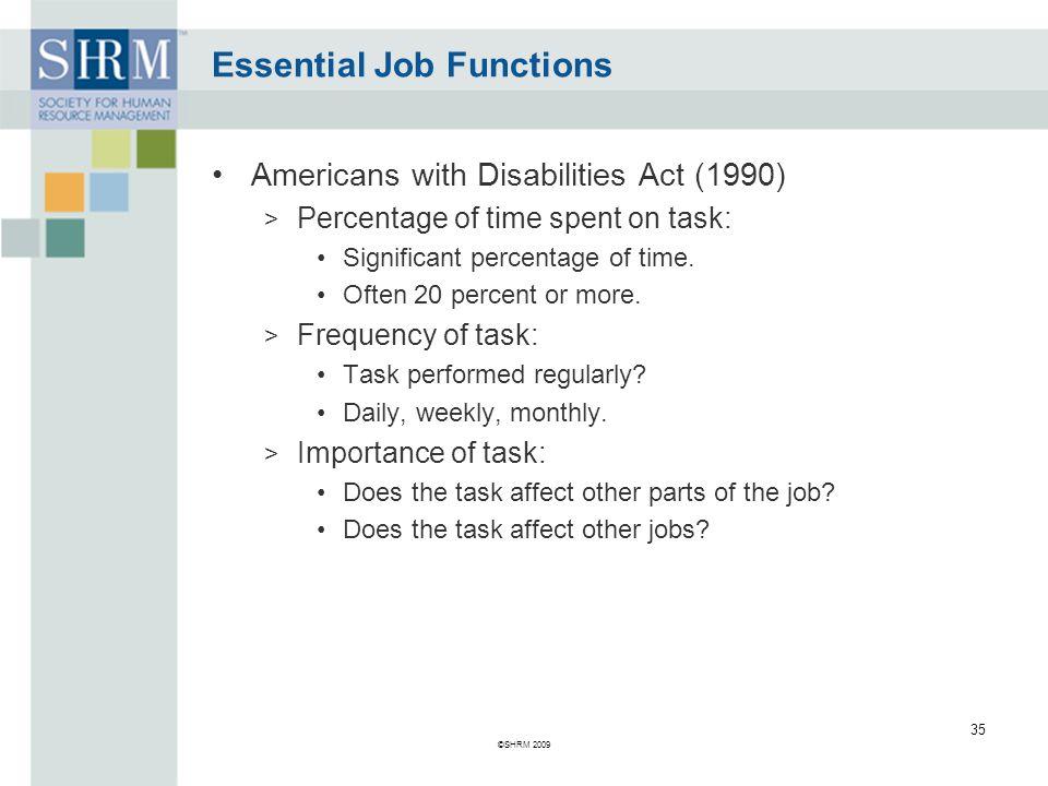 Essential Job Functions