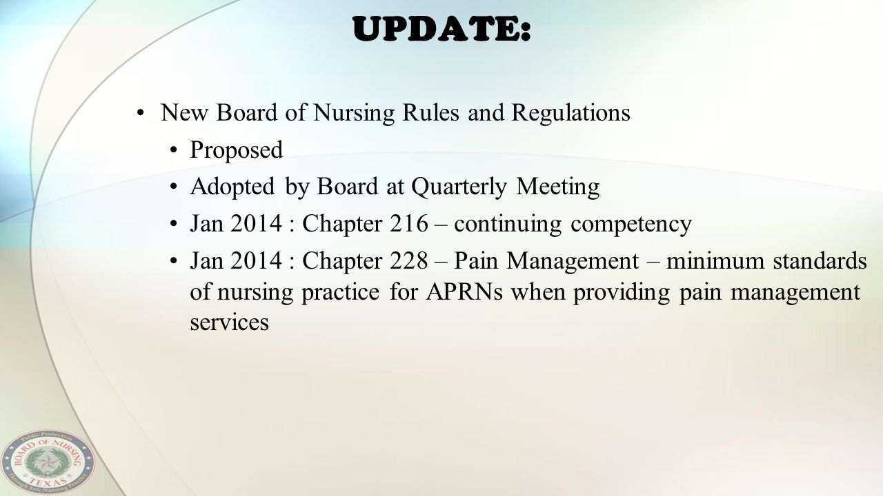 UPDATE: New Board of Nursing Rules and Regulations Proposed