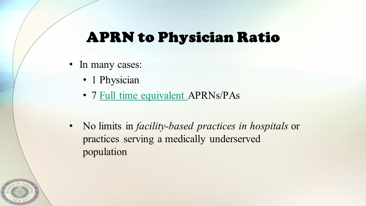 APRN to Physician Ratio