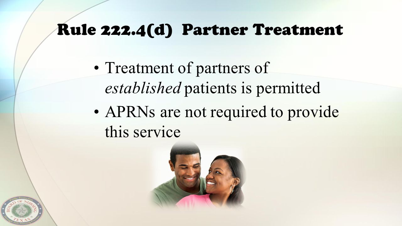 Rule 222.4(d) Partner Treatment