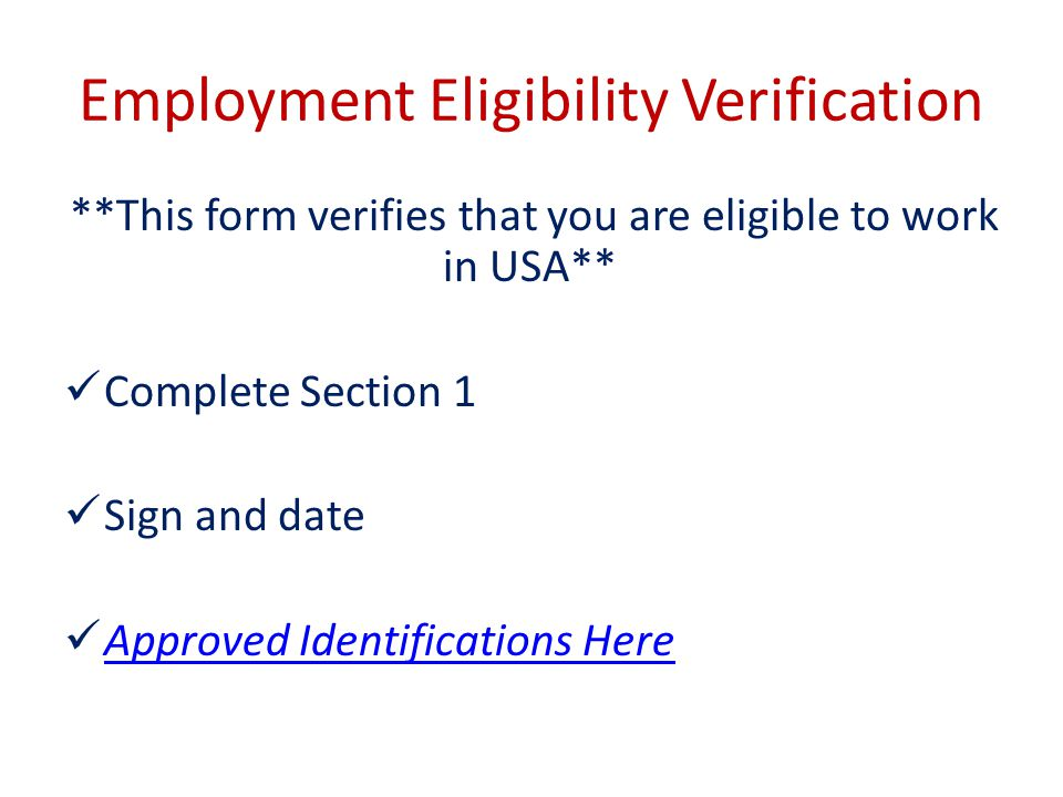 Employment Eligibility Verification