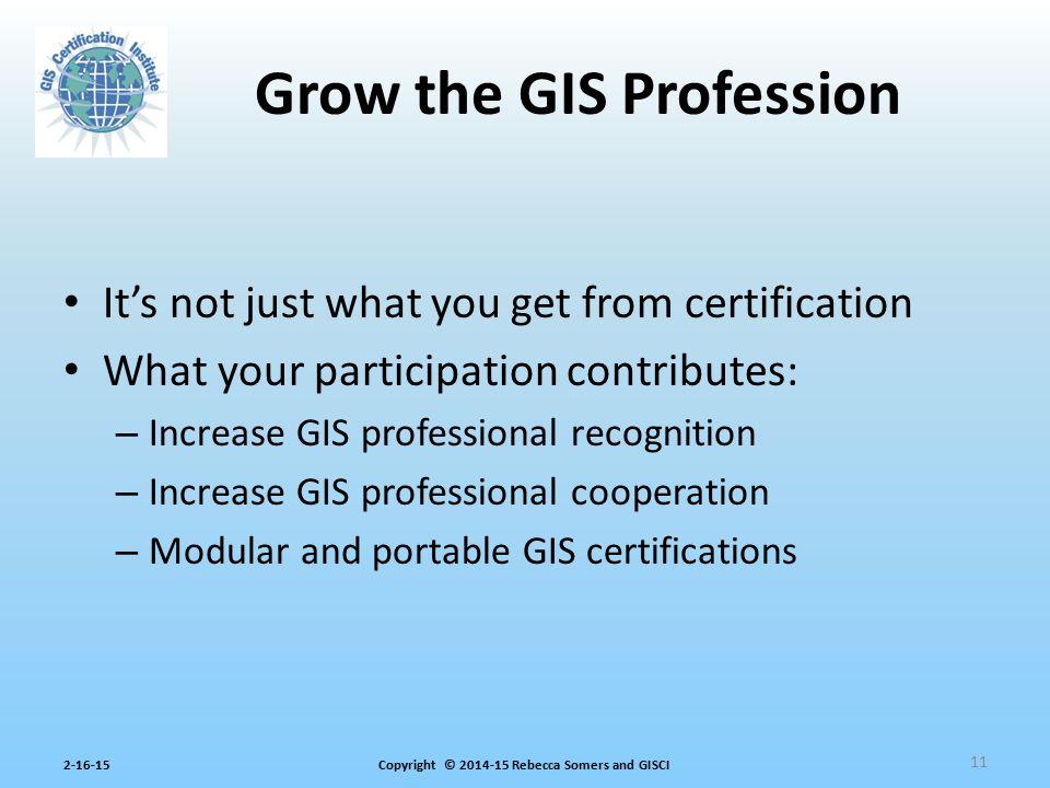 Grow the GIS Profession