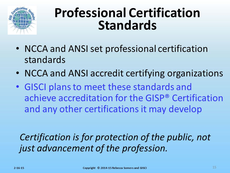 Professional Certification Standards