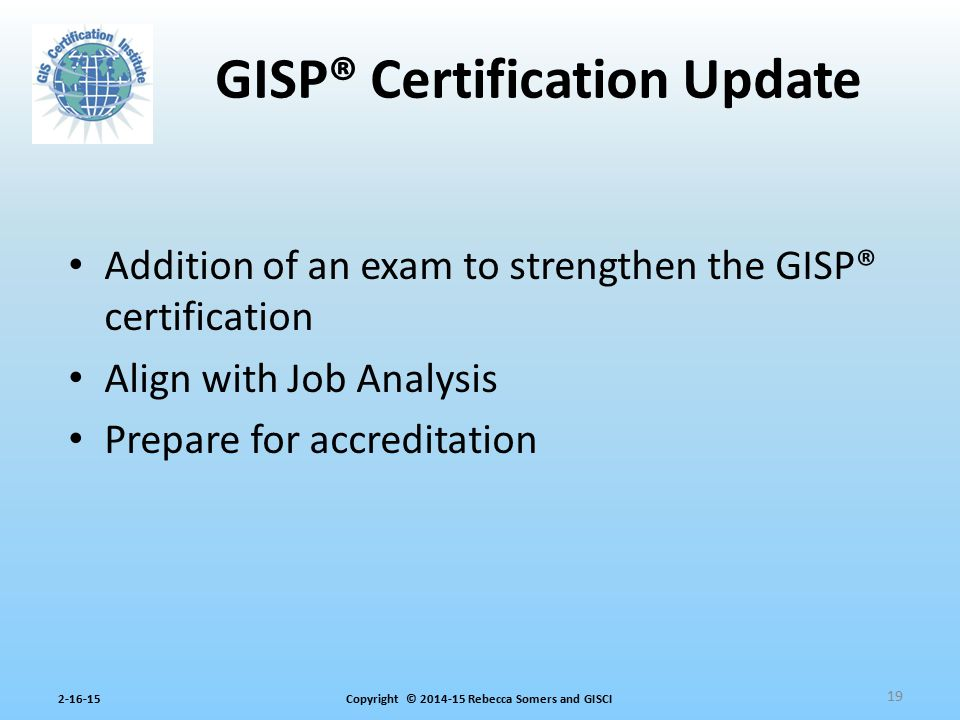 GISP® Certification Update