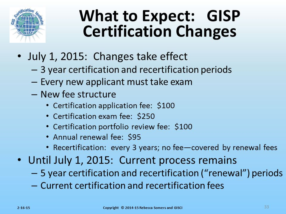 What to Expect: GISP Certification Changes