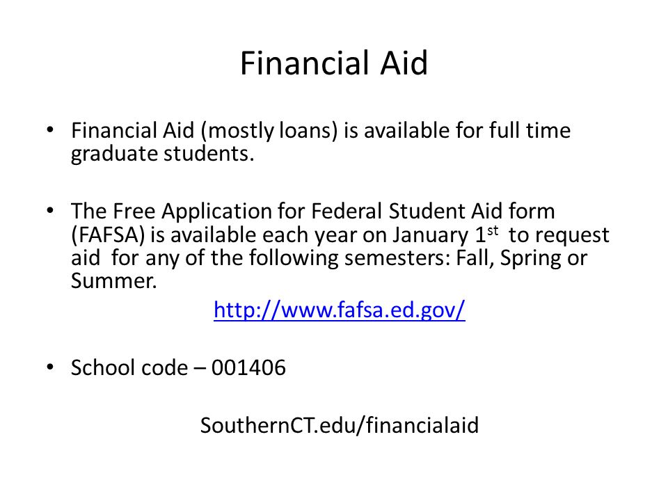 SouthernCT.edu/financialaid