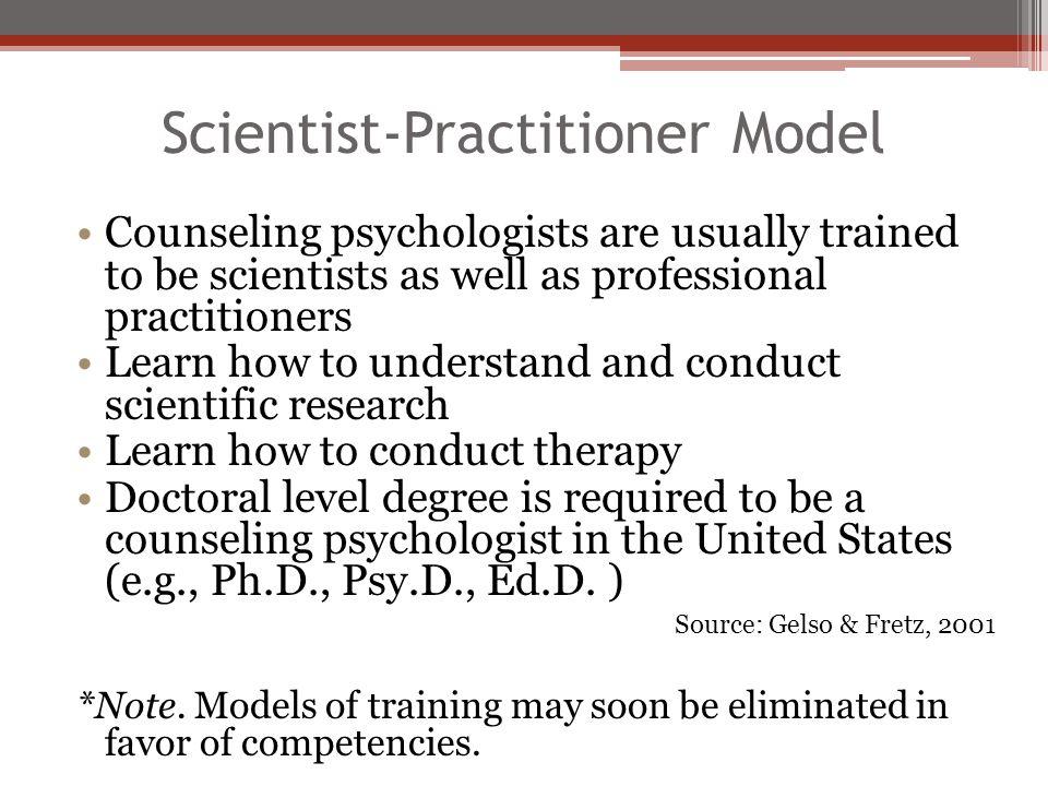 Scientist-Practitioner Model