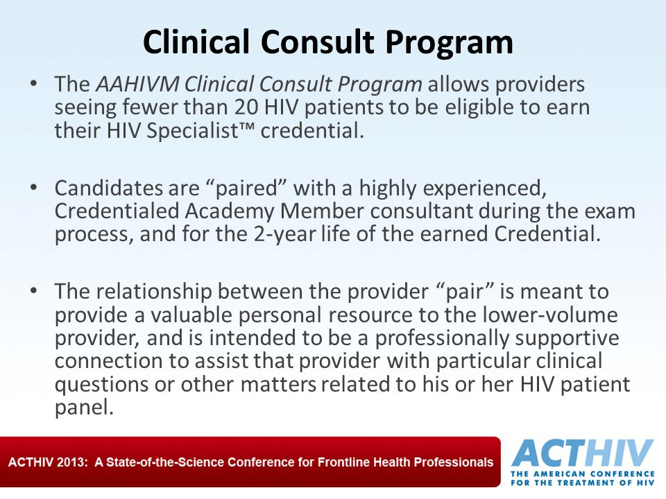 Clinical Consult Program