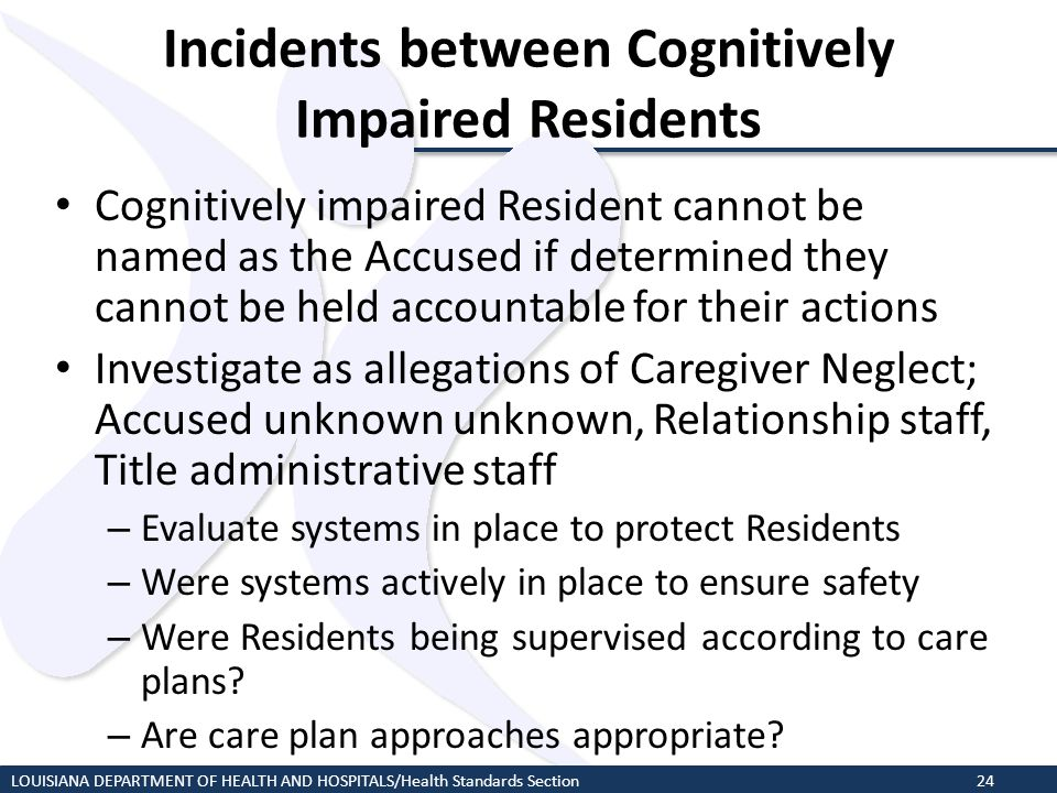 Incidents between Cognitively Impaired Residents