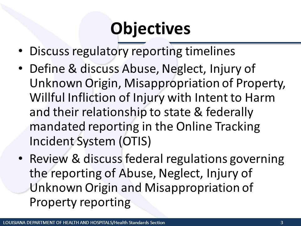 Objectives Discuss regulatory reporting timelines