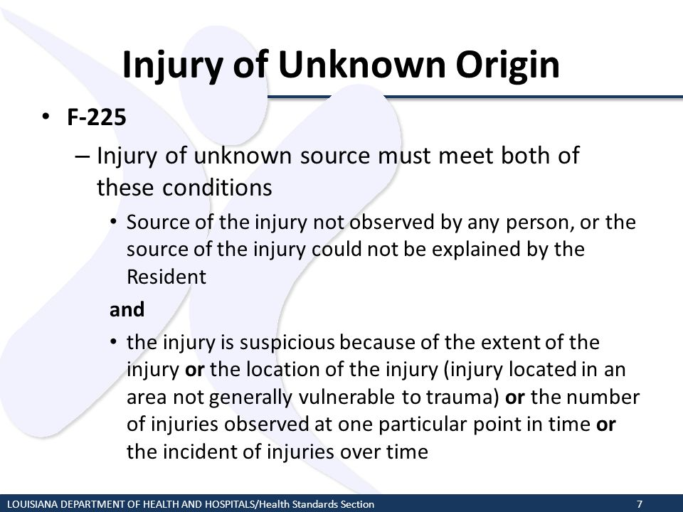 Injury of Unknown Origin