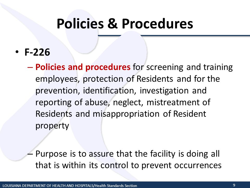 Policies & Procedures F-226