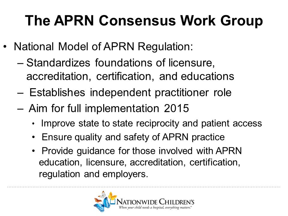 The APRN Consensus Work Group