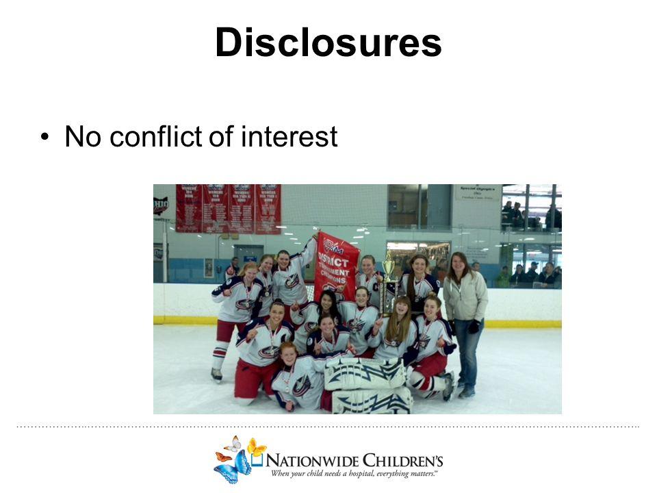 Disclosures No conflict of interest