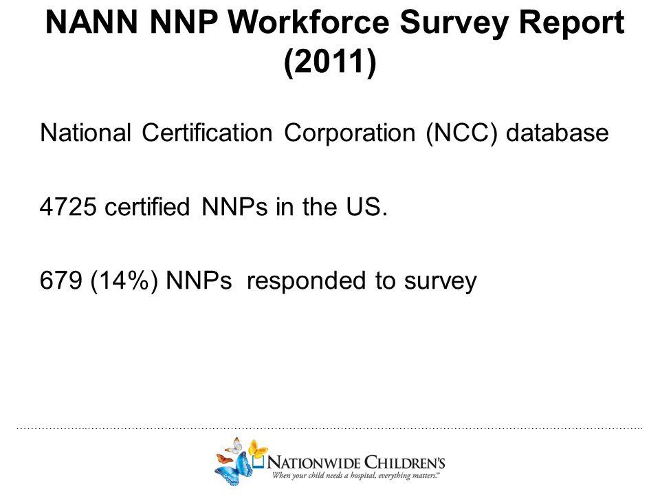 NANN NNP Workforce Survey Report (2011)