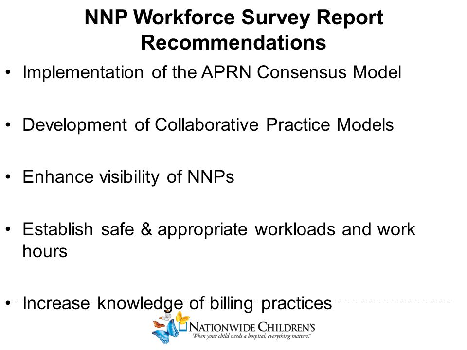 NNP Workforce Survey Report Recommendations