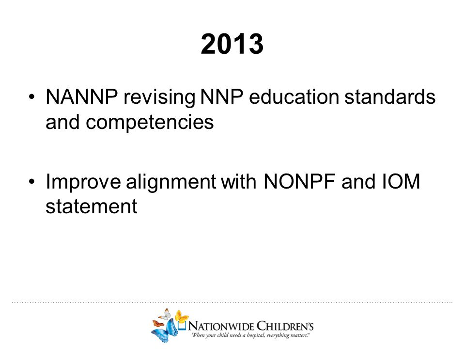 2013 NANNP revising NNP education standards and competencies