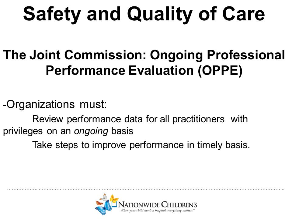 Safety and Quality of Care