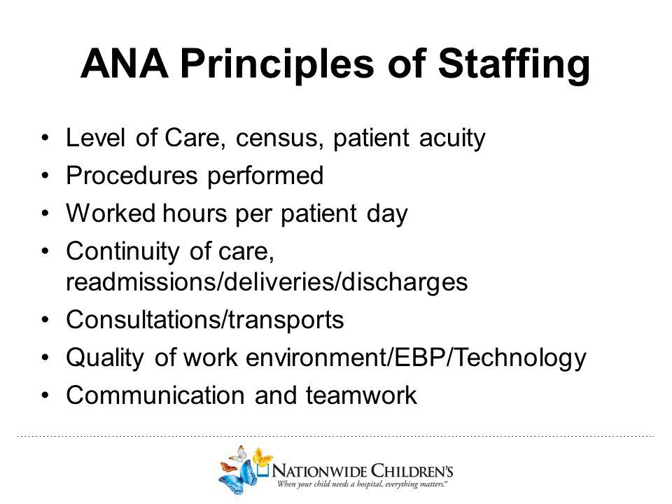 ANA Principles of Staffing