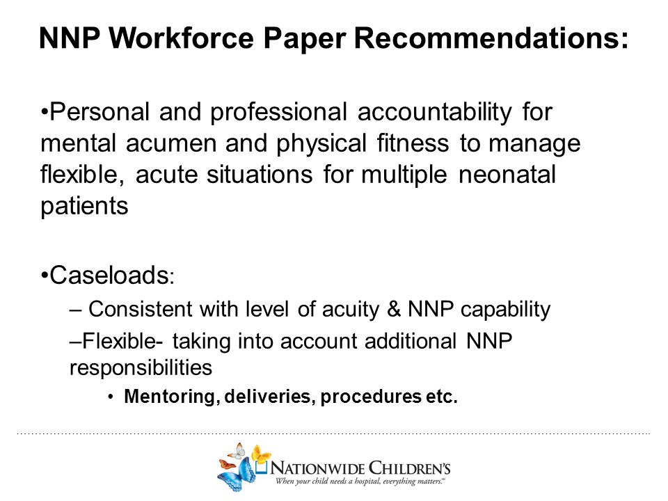 NNP Workforce Paper Recommendations: