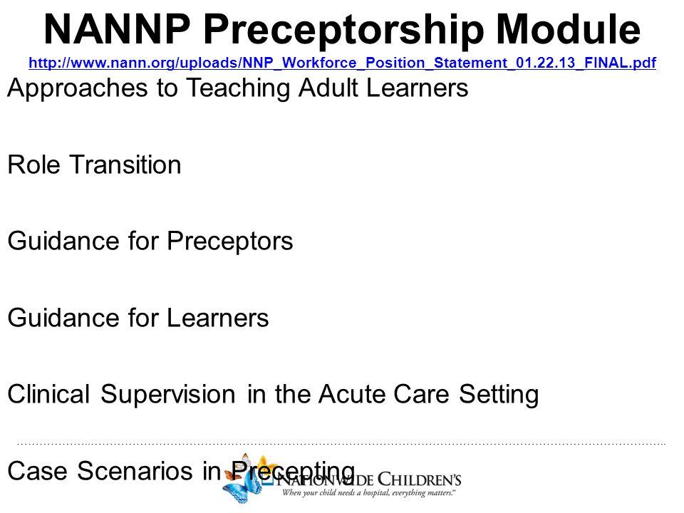 NANNP Preceptorship Module http://www. nann
