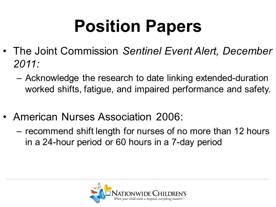 Position Papers The Joint Commission Sentinel Event Alert, December 2011: