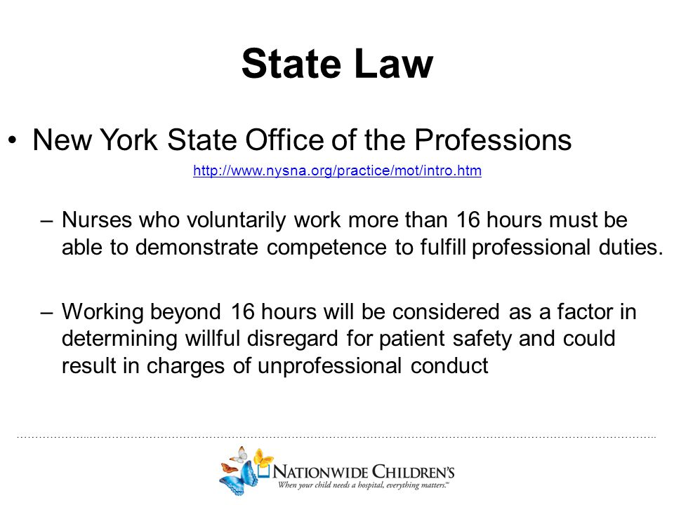 State Law New York State Office of the Professions