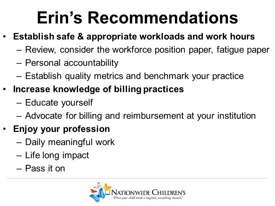 Erin's Recommendations