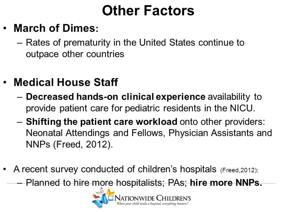 Other Factors March of Dimes: Medical House Staff