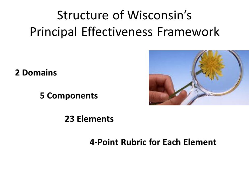 Structure of Wisconsin's Principal Effectiveness Framework