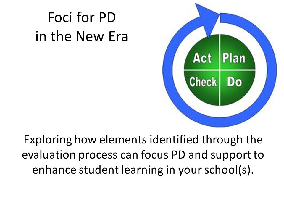 Foci for PD in the New Era