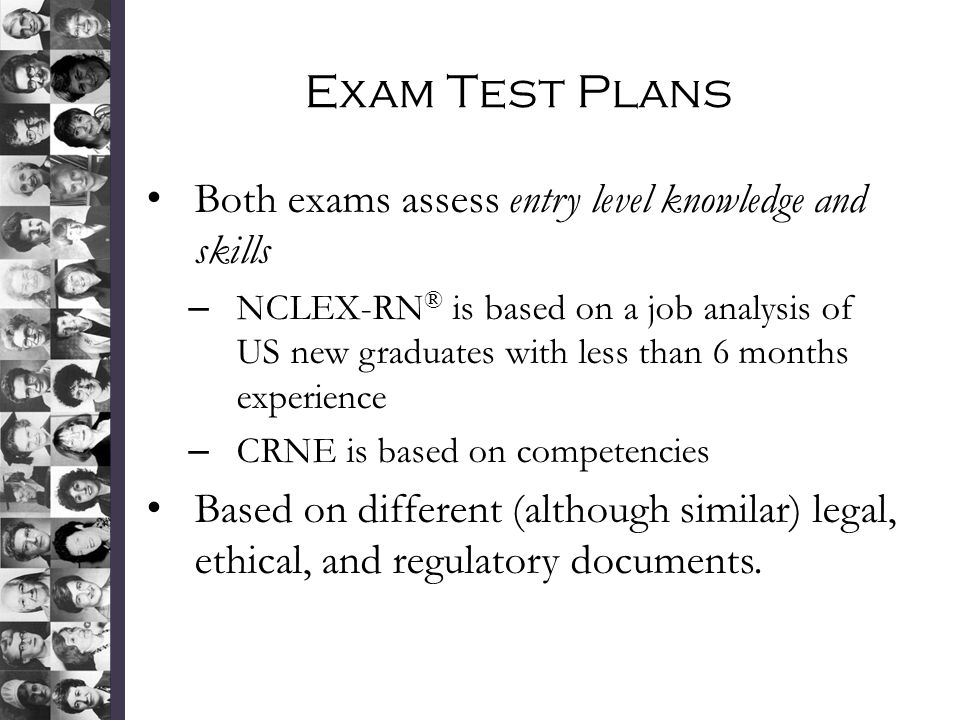 Exam Test Plans Both exams assess entry level knowledge and skills