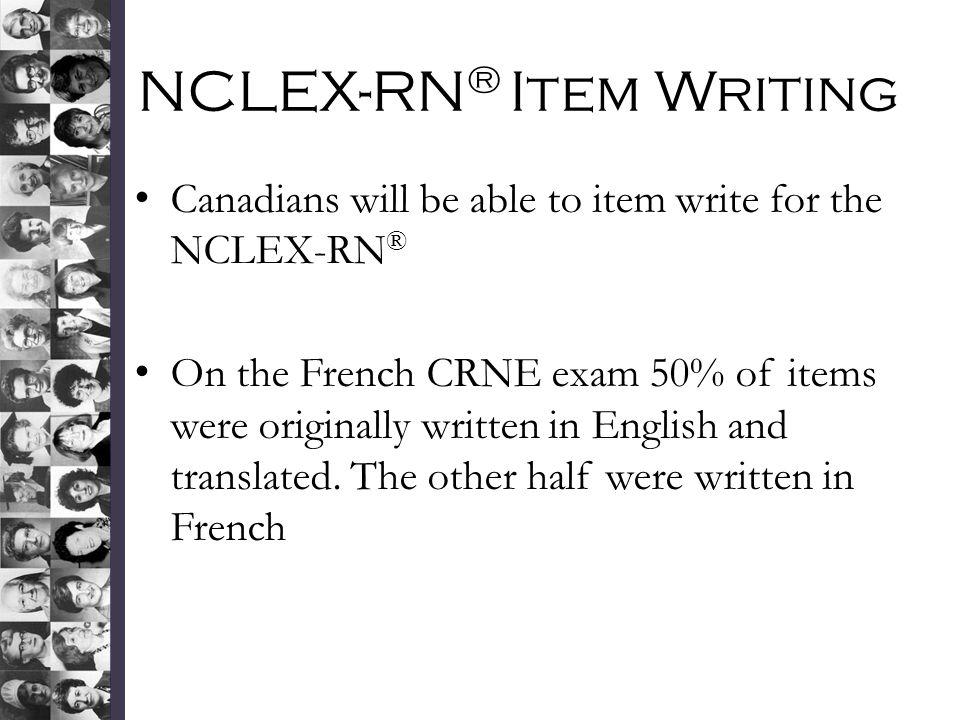 NCLEX-RN® Item Writing