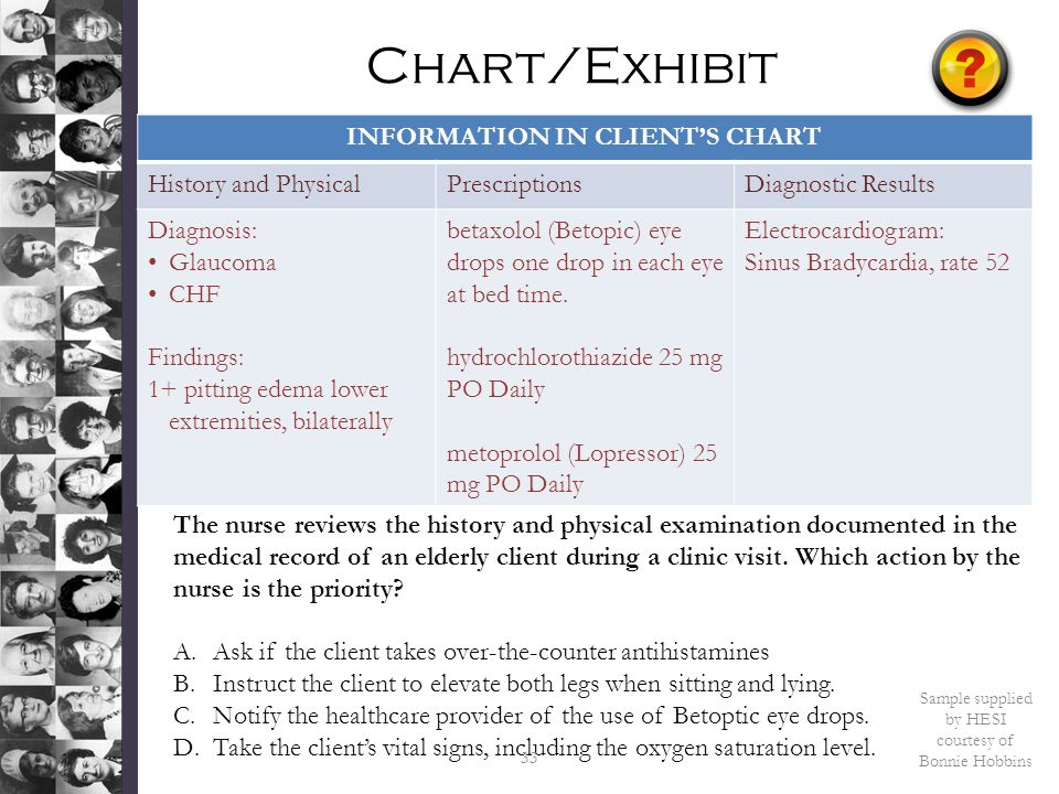 INFORMATION IN CLIENT'S CHART