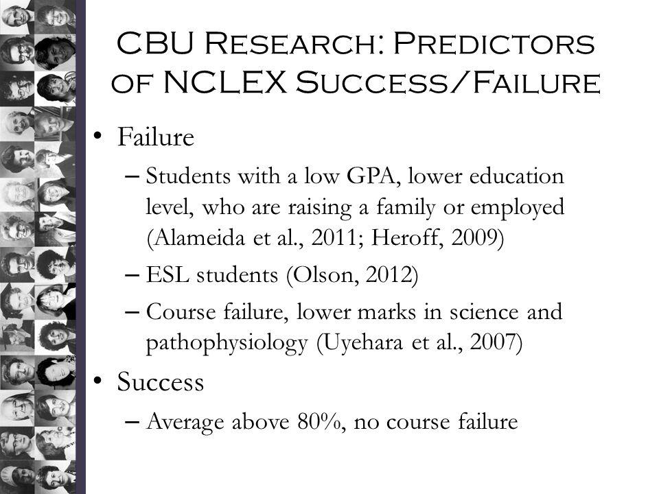 CBU Research: Predictors of NCLEX Success/Failure
