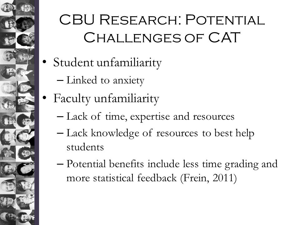 CBU Research: Potential Challenges of CAT