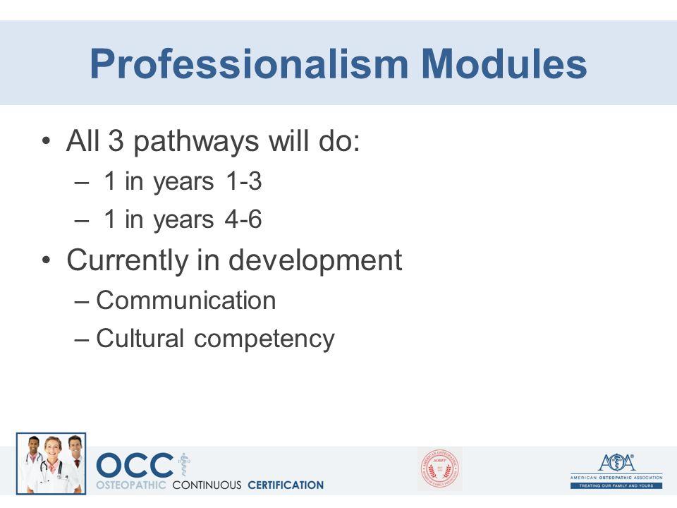 Professionalism Modules