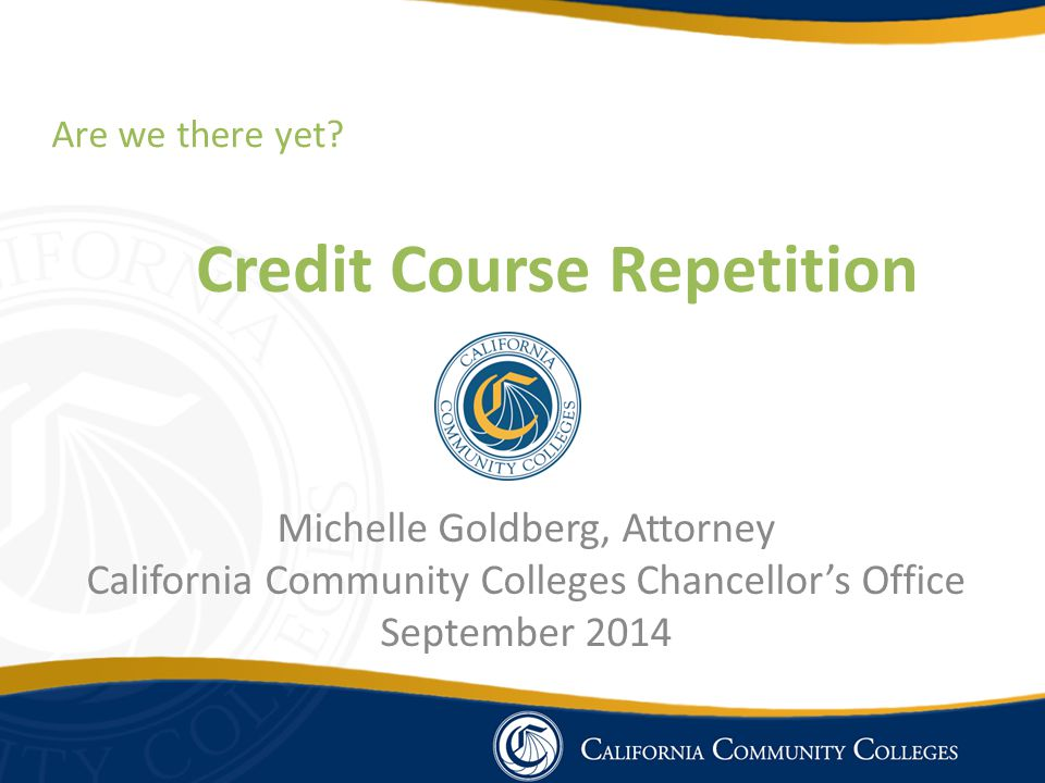 Credit Course Repetition
