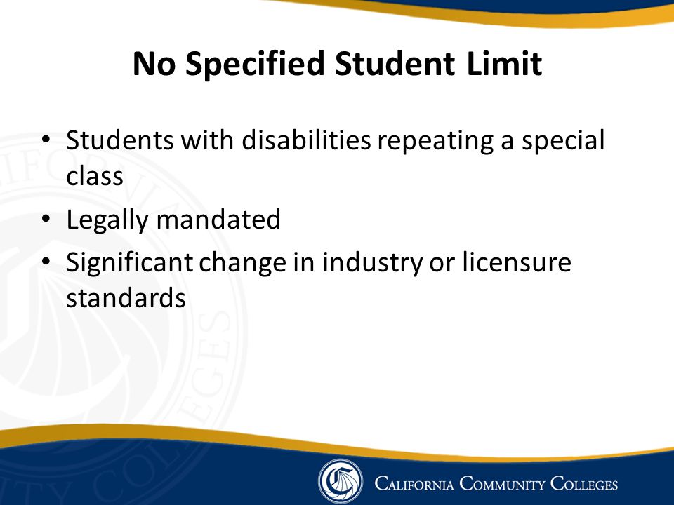 No Specified Student Limit