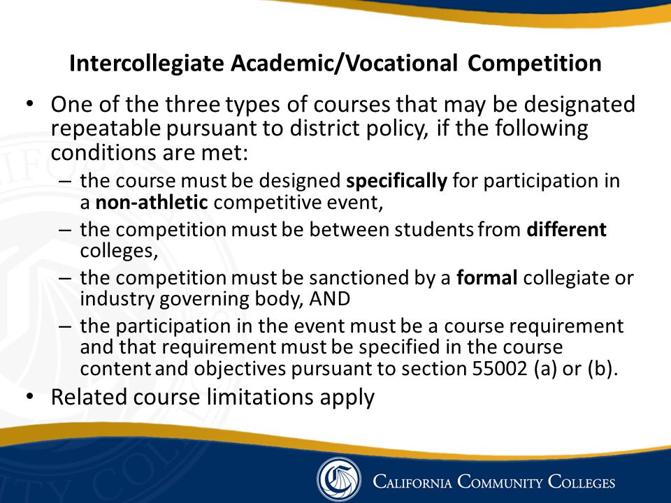 Intercollegiate Academic/Vocational Competition